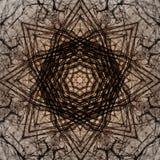 Διακοσμητικό σχέδιο, συμπεπλεγμένες γραμμές, ο συνδυασμός τεμαχίων των εικόνων Στοκ Εικόνα
