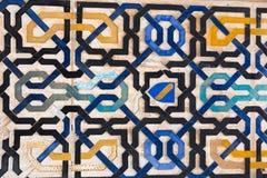 Διακοσμητικό σχέδιο Alhambra Γρανάδα Στοκ εικόνες με δικαίωμα ελεύθερης χρήσης