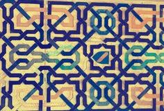 Διακοσμητικό σχέδιο Alhambra Γρανάδα Στοκ εικόνα με δικαίωμα ελεύθερης χρήσης