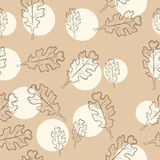 Διακοσμητικό υπόβαθρο απεικόνισης αποθεμάτων με τα δρύινα φύλλα Στοκ φωτογραφία με δικαίωμα ελεύθερης χρήσης