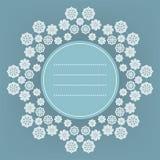 Διακοσμητικό υπόβαθρο Χριστουγέννων με snowflakes και θέση στο κείμενο ελεύθερη απεικόνιση δικαιώματος