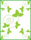 Διακοσμητικό φυσικό floral πλαίσιο, υπόβαθρο Στοκ φωτογραφία με δικαίωμα ελεύθερης χρήσης