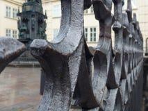 Διακοσμητικό χαρασμένο κιγκλίδωμα στην ιστορική πόλη Στοκ εικόνα με δικαίωμα ελεύθερης χρήσης