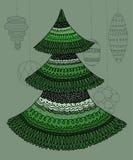 Διακοσμητικό χριστουγεννιάτικο δέντρο Στοκ εικόνες με δικαίωμα ελεύθερης χρήσης