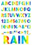 Διακοσμητικό χρωματισμένο αλφάβητο μωσαϊκών Στοκ Φωτογραφίες