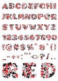 Διακοσμητικό χρωματισμένο αλφάβητο στο άσπρο υπόβαθρο Στοκ Εικόνες