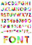Διακοσμητικό χρωματισμένο αλφάβητο Στοκ Εικόνες
