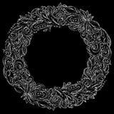 Διακοσμητικό floral στεφάνι Στοκ φωτογραφίες με δικαίωμα ελεύθερης χρήσης