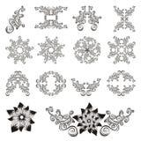 διακοσμητικό floral σύνολο στοιχείων Στοκ Εικόνες