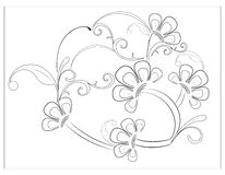 Διακοσμητικό floral υπόβαθρο στοκ εικόνες