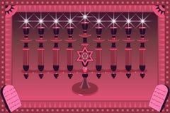 διακοσμητικό illustratio menorah ελεύθερη απεικόνιση δικαιώματος