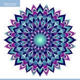 Διακοσμητικό mandala στα φωτεινά χρώματα απεικόνιση αποθεμάτων