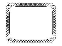 διακοσμητικό penmanship πλαισίων Στοκ εικόνα με δικαίωμα ελεύθερης χρήσης