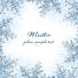 διακοσμητικό snowflake πλαισίων Στοκ εικόνες με δικαίωμα ελεύθερης χρήσης