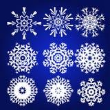 Διακοσμητικό Snowflakes διανυσματικό σύνολο Στοκ Εικόνες