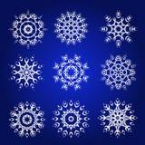Διακοσμητικό Snowflakes διανυσματικό σύνολο Στοκ Φωτογραφία
