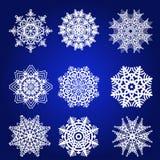 Διακοσμητικό Snowflakes διανυσματικό σύνολο Στοκ εικόνα με δικαίωμα ελεύθερης χρήσης