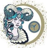 Διακοσμητικό Zodiac σημάδι Aries Διανυσματική απεικόνιση