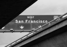 Διακρατικό σημάδι του Σαν Φρανσίσκο Στοκ Φωτογραφίες