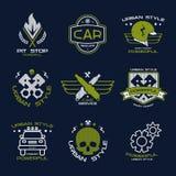 Διακριτικά και λογότυπο υπηρεσιών αυτοκινήτων Στοκ φωτογραφία με δικαίωμα ελεύθερης χρήσης