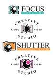 Διακριτικά λογότυπων φωτογραφίας Στοκ εικόνες με δικαίωμα ελεύθερης χρήσης