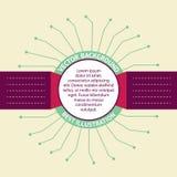 Διακριτικά Infographic. Στοκ Εικόνες
