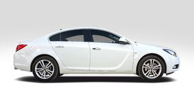 Διακριτικά Opel στο λευκό Στοκ εικόνες με δικαίωμα ελεύθερης χρήσης