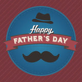 Διακριτικό ημέρας του ευτυχούς πατέρα Στοκ Εικόνες