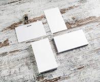 Διακριτικό και επαγγελματικές κάρτες Στοκ Εικόνα