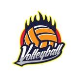 Διακριτικό λογότυπων πετοσφαίρισης, αμερικανικός αθλητισμός λογότυπων απεικόνιση αποθεμάτων