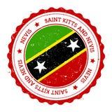 Διακριτικό σημαιών Nevis ελεύθερη απεικόνιση δικαιώματος