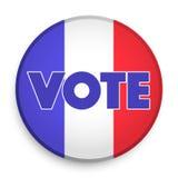 Διακριτικό της εκλογής 2017 στη Γαλλία διανυσματική απεικόνιση
