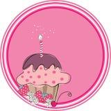 διακριτικό cupcake Στοκ Εικόνες