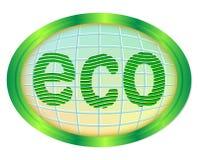 Διακριτικό Eco. Στοκ εικόνες με δικαίωμα ελεύθερης χρήσης