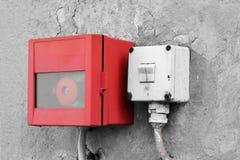 Διακόπτης έκτακτης ανάγκης και ελαφρύς διακόπτης Στοκ εικόνες με δικαίωμα ελεύθερης χρήσης