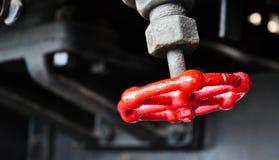 Διακόπτης βαλβίδων της ατμομηχανής τραίνων στοκ εικόνα με δικαίωμα ελεύθερης χρήσης