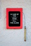 Διακόπτης συναγερμών πυρκαγιάς στοκ εικόνες