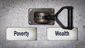 Διακόπτης τοίχων πλούσιος εναντίον Overty στοκ φωτογραφία με δικαίωμα ελεύθερης χρήσης