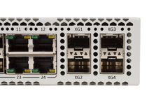 Διακόπτης Ethernet Gigabit με την αυλάκωση SFP Στοκ φωτογραφίες με δικαίωμα ελεύθερης χρήσης