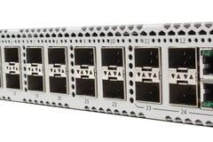 Διακόπτης Ethernet Gigabit με την αυλάκωση SFP Στοκ εικόνα με δικαίωμα ελεύθερης χρήσης