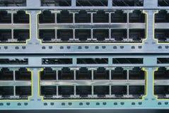 Διακόπτης Ethernet. RJ45 συνδετήρες λιμένων Στοκ φωτογραφίες με δικαίωμα ελεύθερης χρήσης