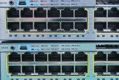 Διακόπτης Ethernet. RJ45 συνδετήρες λιμένων Στοκ εικόνα με δικαίωμα ελεύθερης χρήσης
