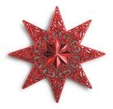 Διακόσμηση αστεριών Χριστουγέννων Στοκ Εικόνες