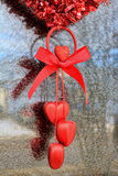 Διακόσμηση βαλεντίνων καρδιών Στοκ εικόνα με δικαίωμα ελεύθερης χρήσης