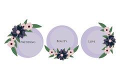 Διακόσμηση γαμήλιας πρόσκλησης διανυσματική απεικόνιση