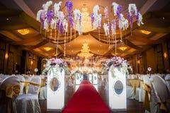 Διακόσμηση γαμήλιων αιθουσών Στοκ φωτογραφία με δικαίωμα ελεύθερης χρήσης
