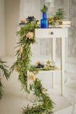 Διακόσμηση γαμήλιων αιθουσών Στοκ Εικόνα