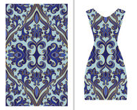 Διακόσμηση για ένα φόρεμα γυναικών ` s διανυσματική απεικόνιση