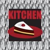 Διακόσμηση για την κουζίνα και το σπίτι Κέικ ελεύθερη απεικόνιση δικαιώματος