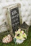 Διακόσμηση για το γάμο DIY Στοκ Εικόνες